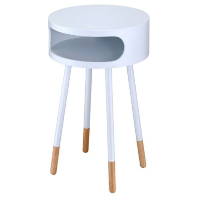 End Table White Natural - Acme Furniture