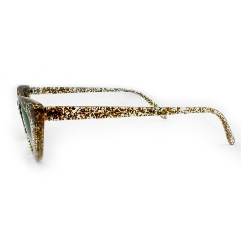 baa64109448 Women s Cateye Sunglasses with Brown Lenses - Wild Fable™ Clear Gold Glitter.  Shop all Wild Fable