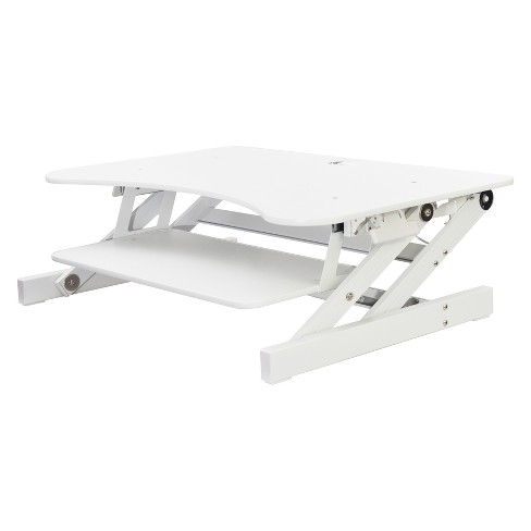 Ergonomic Height Adjustable Sit to Stand Desk Computer Riser, White - image 1 of 4