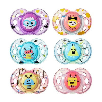 Tommee Tippee Closer to Nature Fun 2pk Pacifiers 6-18m