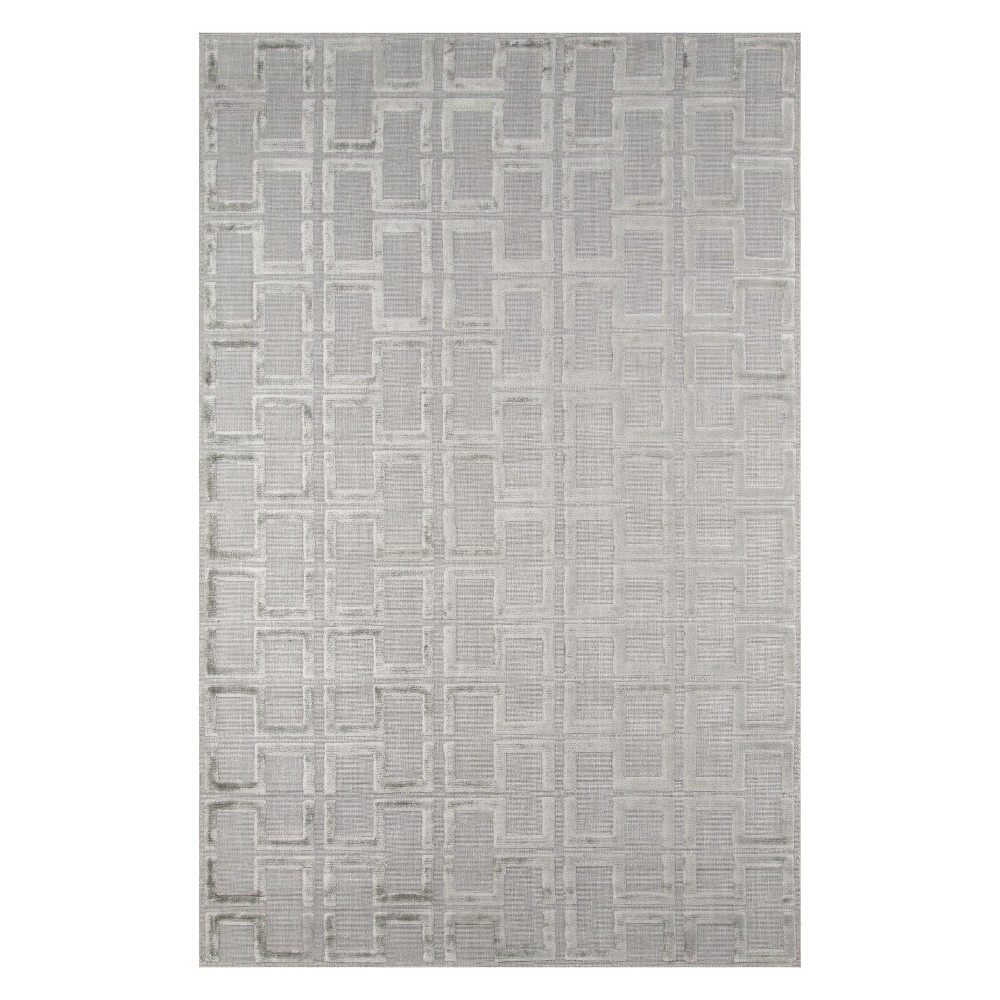2'X3' Geometric Loomed Accent Rug Gray - Momeni