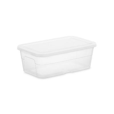 6qt Clear Storage Box White - Room Essentials™