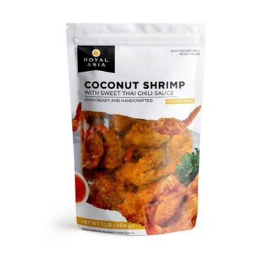 Royal Asia Gluten Free Coconut Shrimp with Sweet Thai Chili Sauce - Frozen - 16oz