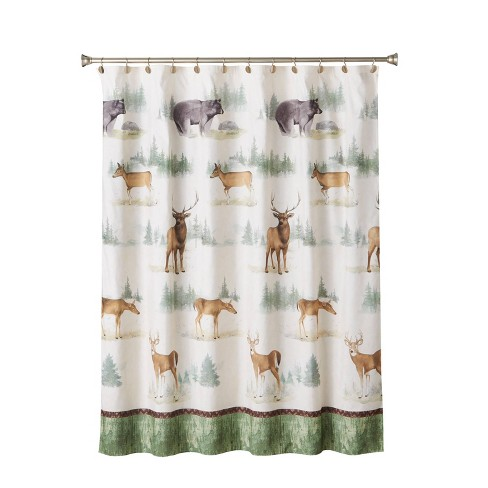 Home on the Range Fabric Shower Curtain - SKL Home - image 1 of 4