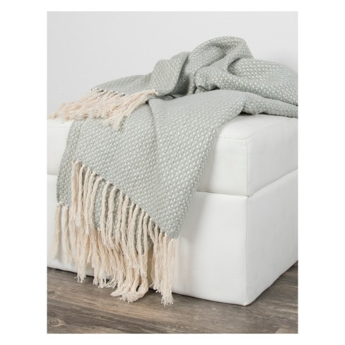 Cotton Cross Weave Throw - Rizzy Home - image 1 of 3