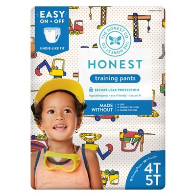 The Honest Company Training Pants Construction Zone - Size 4T-5T (19ct)