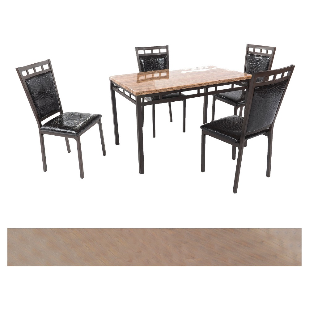 Image of 5pc Dinette - Dark Brown - Home Source