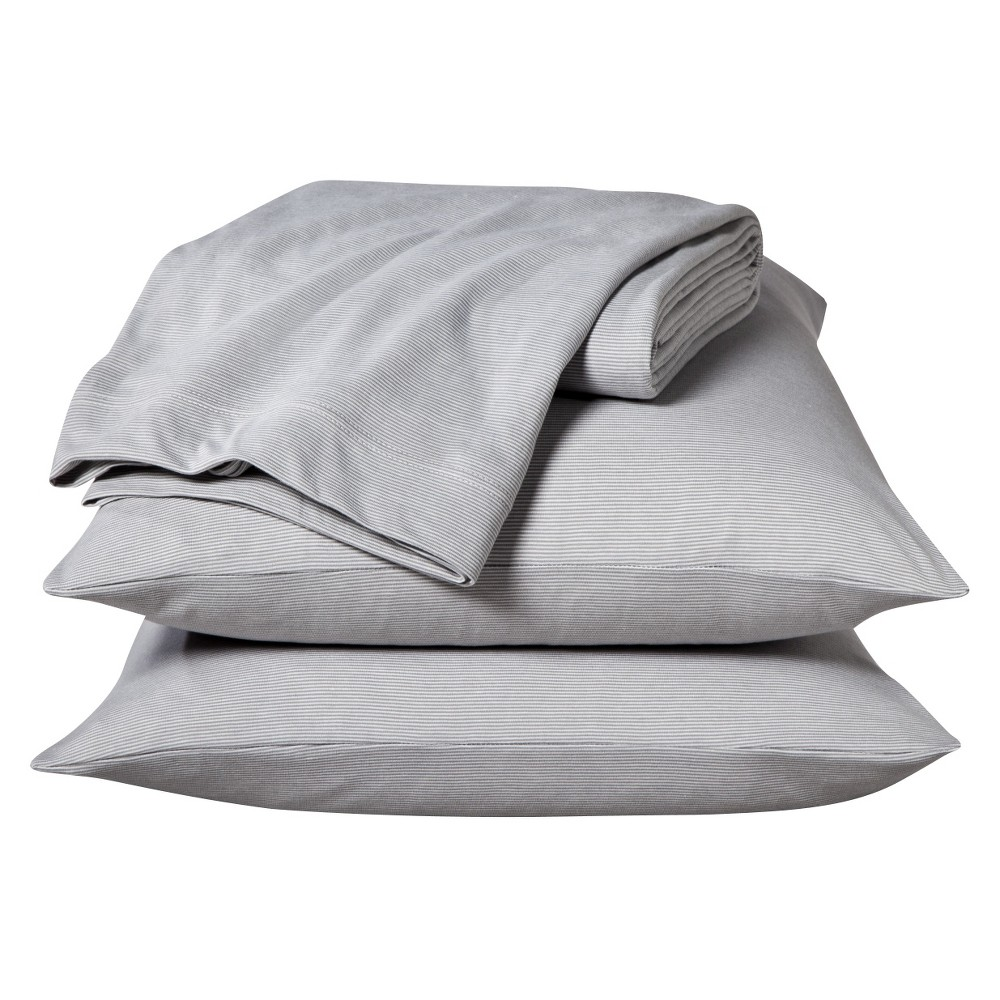 Jersey Sheet Set Prints (King) Gray Stripe - Room Essentials