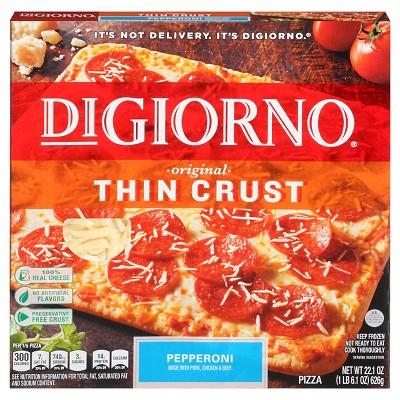DiGiorno® Pizza Thin Crispy Crust Pepperoni Frozen Pizza - 14oz