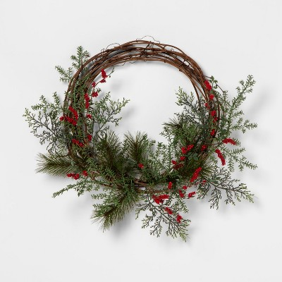 Wreath Red Berry Pine - Hearth & Hand™ with Magnolia