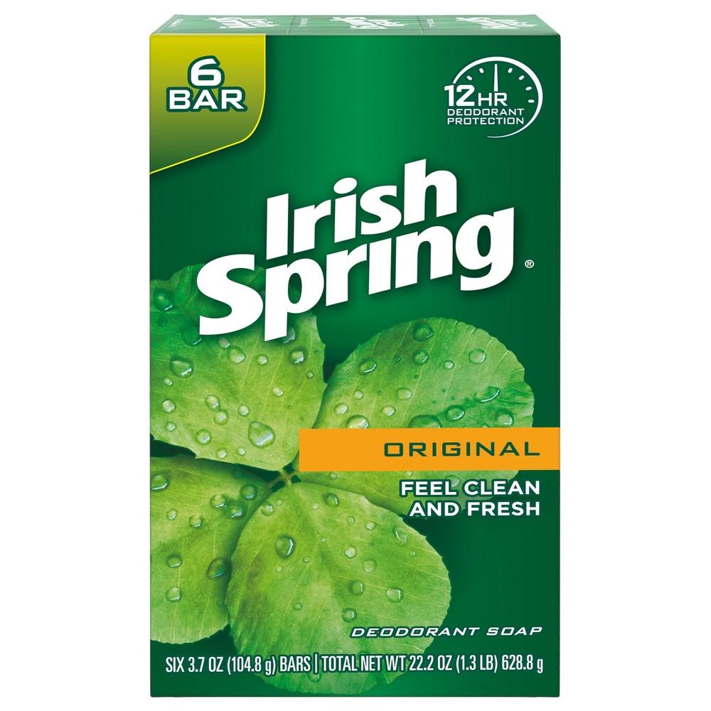 Irish Spring Original Deodorant Bar Soap - 3.7oz/6pk
