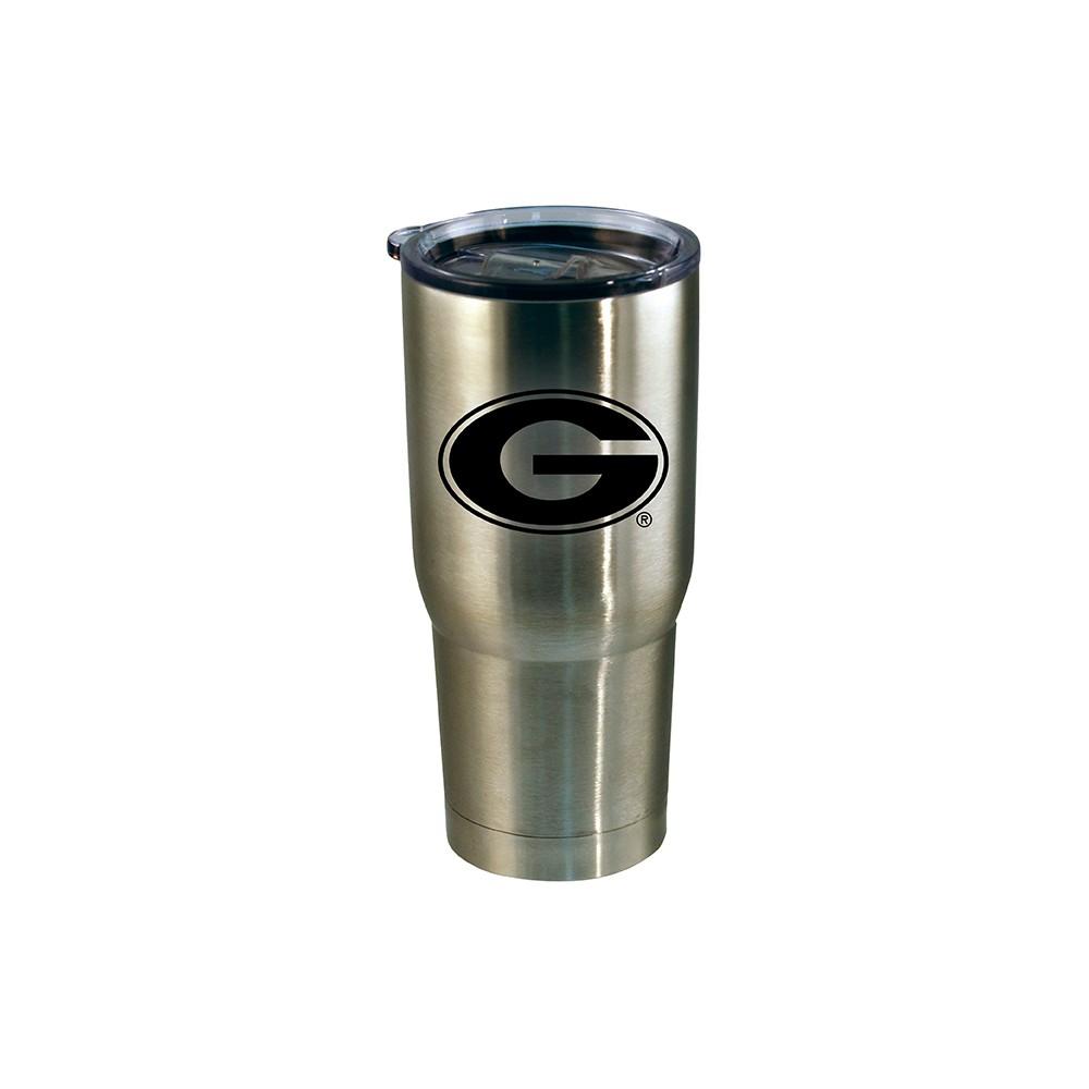 Georgia Bulldogs Stainless Steel Retro Logo Tumbler - Black - 20oz