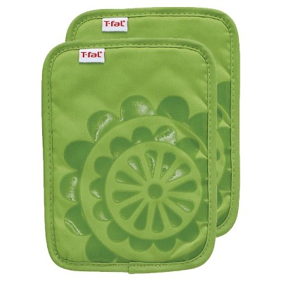 Green Silicone Pot Holder 2 Pack (6.75 x9 )T-Fal