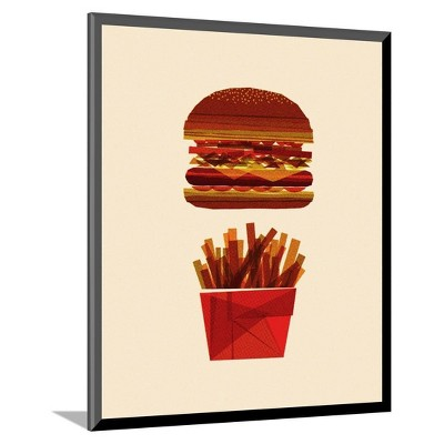 Burger and Fries by Greg Mably Mounted Print 11 x13  - Art.Com