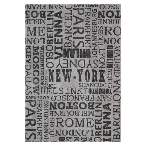 Waverly Cities Indoor/Outdoor Rug - Gray (8'x11') - image 1 of 4