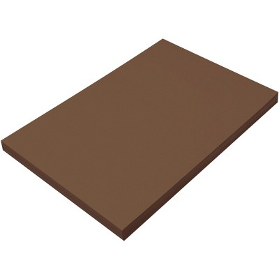 SunWorks Heavyweight Construction Paper, 12 x 18 Inches, Dark Brown, 100 Sheets
