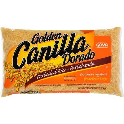 Goya Canilla Golden Dorado Parboiled Long Grain Microwavable Rice - 5lbs