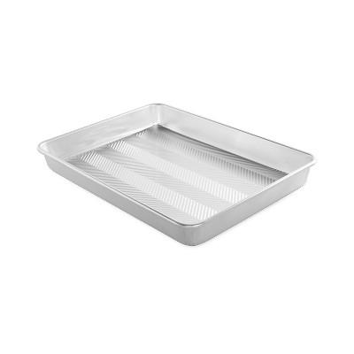 """Nordic Ware Prism 13"""" X 18"""" High-Sided Sheet Cake Pan, Metallic"""