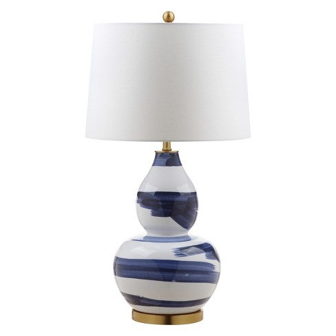 """Aileen Table Lamp Blue/White 18""""x18"""" (Includes Energy Efficient Light Bulb) - Safavieh - image 1 of 3"""