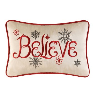 """C&F Home 8"""" x 12"""" Believe Embroidered Petite Pillow"""