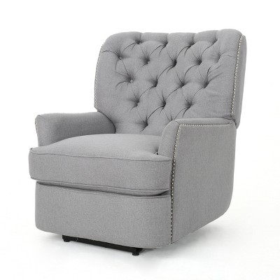 Salomo Tufted Fabric Power Recliner - Christopher Knight Home