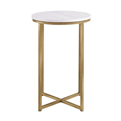 "16"" X Base Glam Round Side Table - Saracina Home : Target"