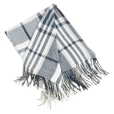 Gray Plaid Design Throw (50 X60 )