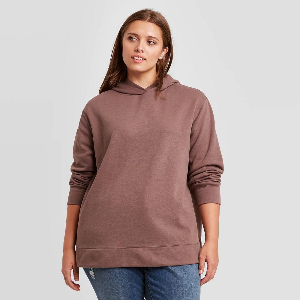 Reviews Women's Plus Size Leisure Hooded Sweatshirt - Ava & Viv™ Dark