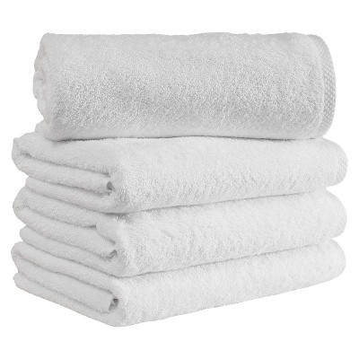 4pc Arsenal Turkish Hotel Towel Collection White - Makroteks