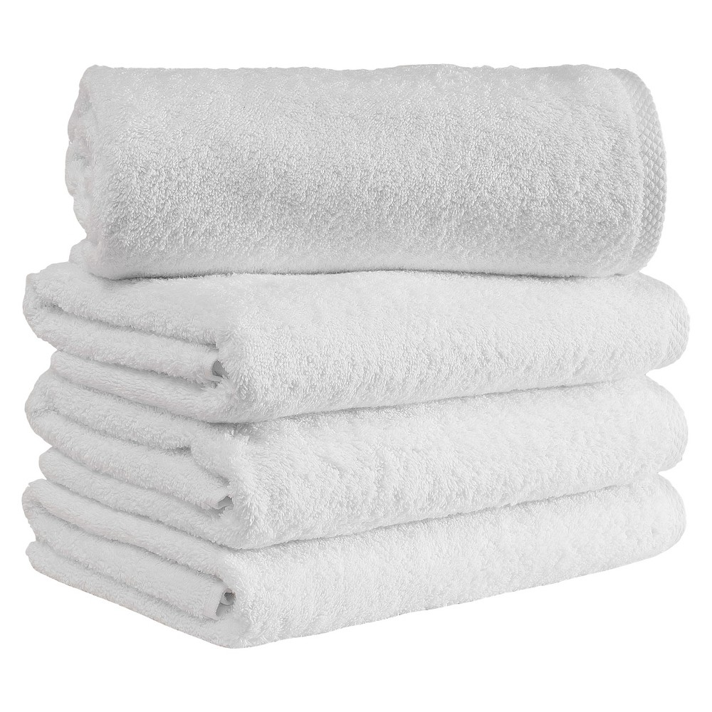 Image of 4pc Arsenal Turkish Hotel Towel Collection White - Makroteks