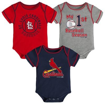 MLB St. Louis Cardinals Boys' Bodysuit - 12M