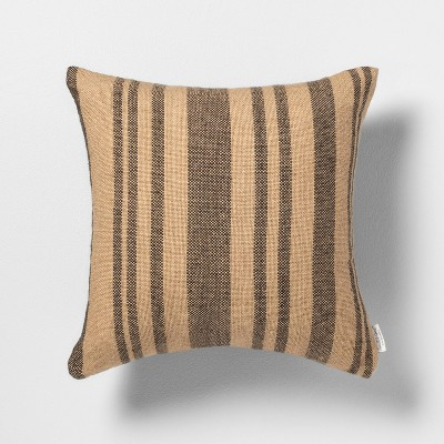 Outdoor Toss Pillow Stripe Natural - Hearth & Hand™ with Magnolia
