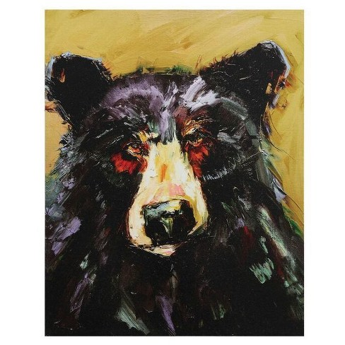 Canvas Wall Plaque with Bear - 3R Studios - image 1 of 1
