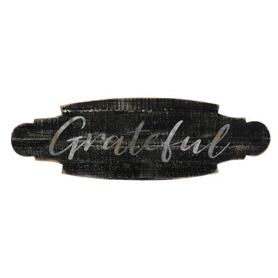 Grateful' Wood and Metal Wall Décor - Creative Co-Op