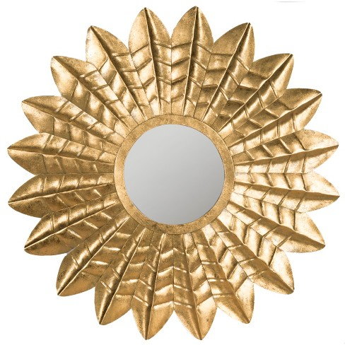 Round Decorative Wall Mirror Gold - Safavieh® - image 1 of 3