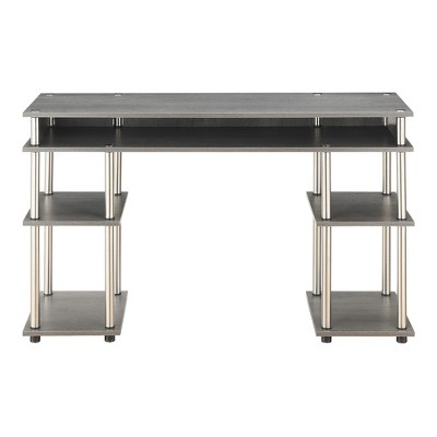 No Tools Student Desk Charcoal Gray - Breighton Home