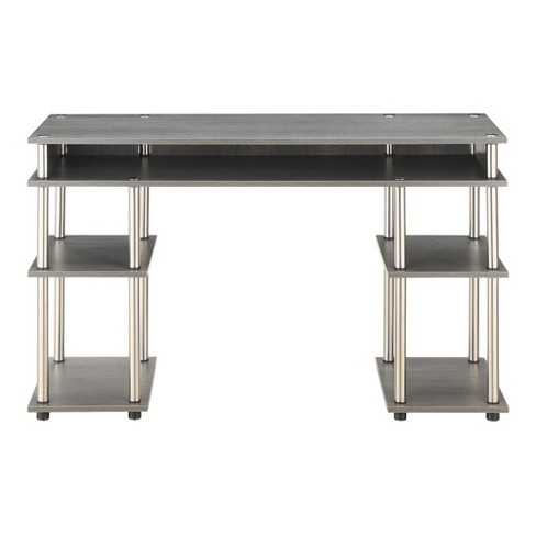 No Tools Student Desk Charcoal Gray - Breighton Home - image 1 of 4