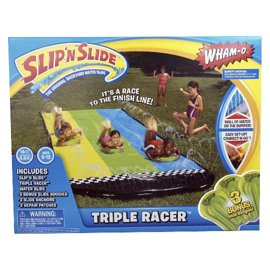 Slip 'N Slide Triple Racer with 3 Slide Boogies image number null
