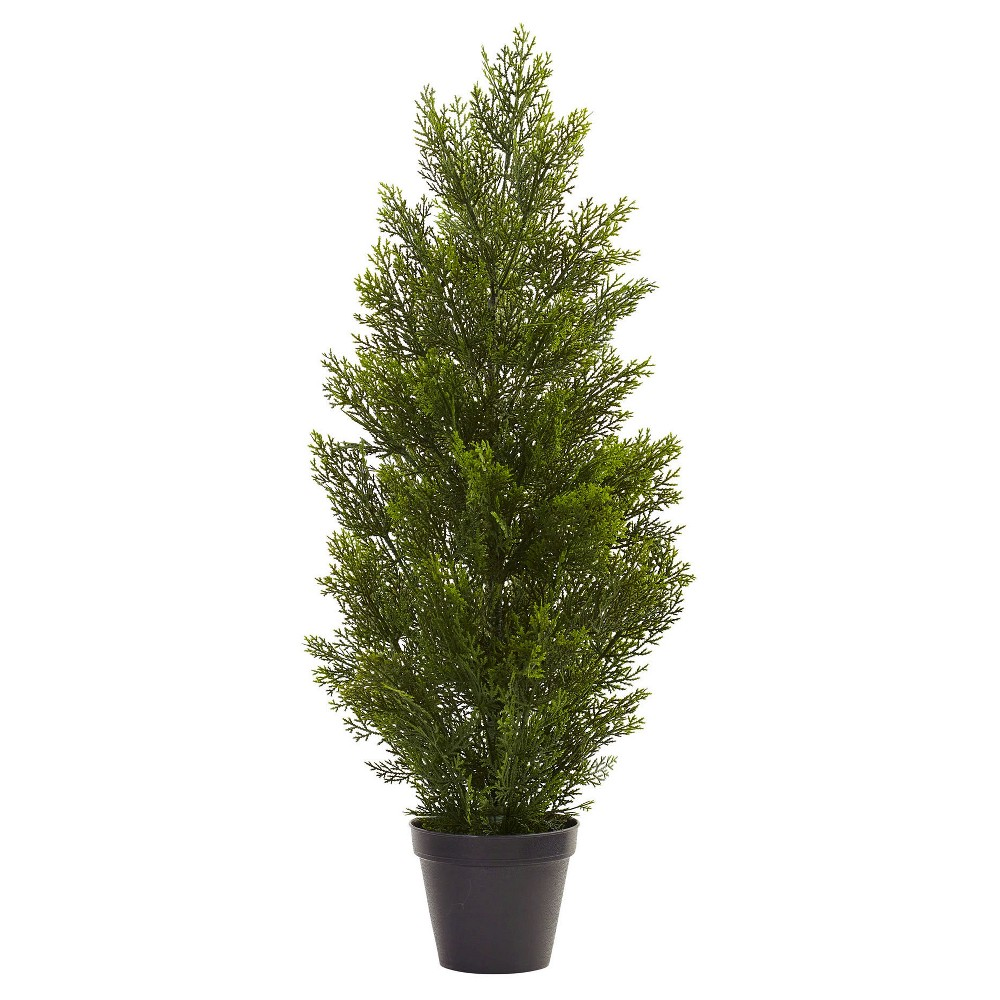 Mini Cedar Pine Tree (Indoor/Outdoor) - Green (3 ) The perfect addition to your patio or hallways. This Mini Cedar Pine Tree (Indoor/Outdoor) - Green (3 ) from Nearly Natural is sure to add a sense of refreshing calm and natural beauty to your home decor. Use it to fill the empty floor spaces within your home or by your patio door to make a definite impression. Made from a combination of durable materials, making this decorative accent ideal for outdoor use.