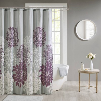Calla Printed Floral Shower Curtain