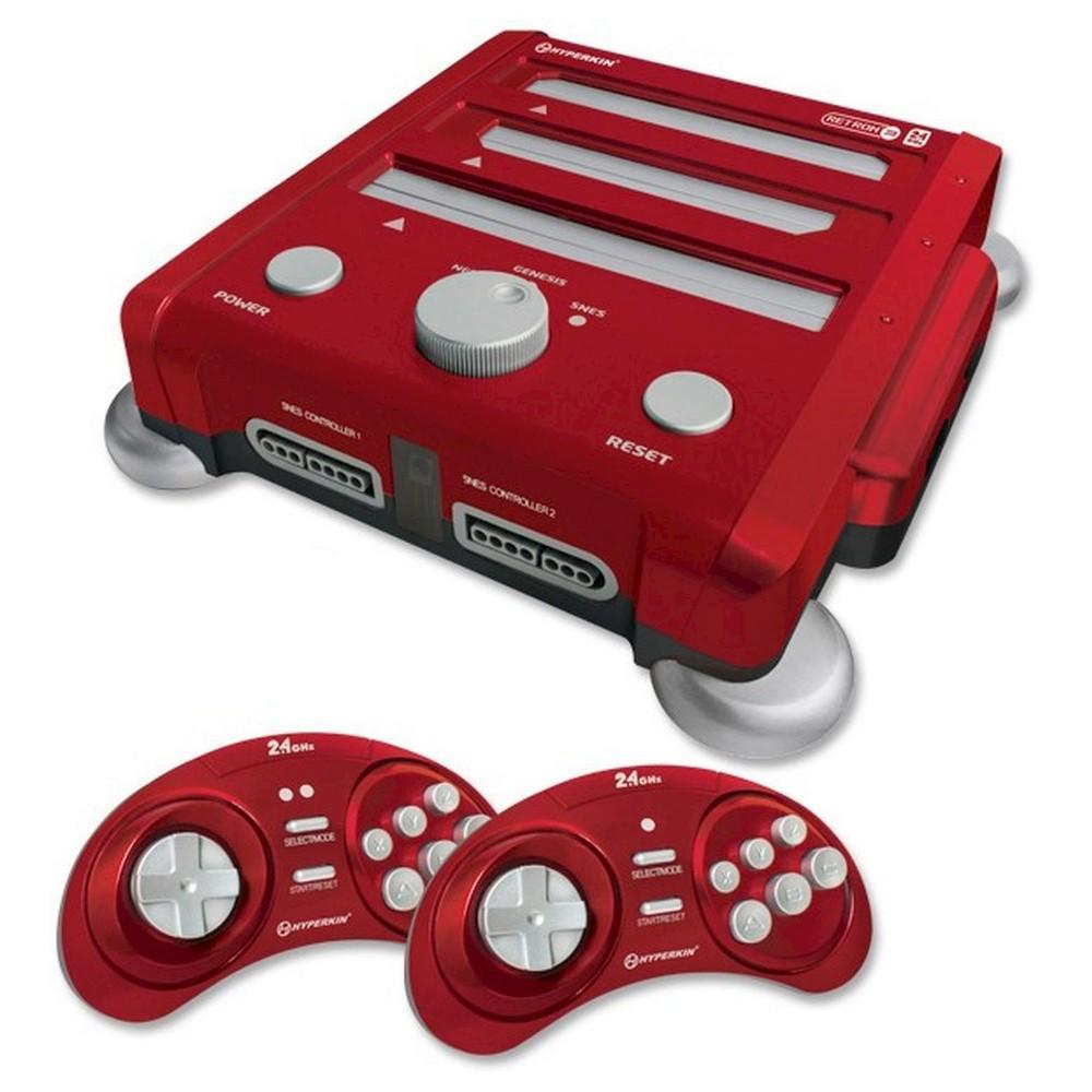 RetroN 3 3-in-1 NES, SNES, and Sega Genesis Gaming System - Red