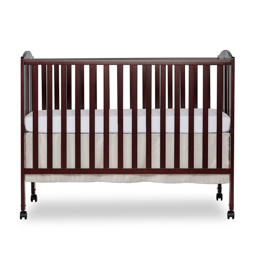 Image of Dream On Me Folding Full Size Crib - Espresso, Brown