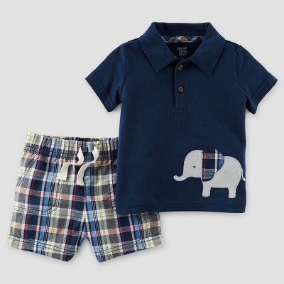 Toddler Boys' 2pc Elephant T-Shirt Set - Just One You™ Made by Carter's® Navy 12M