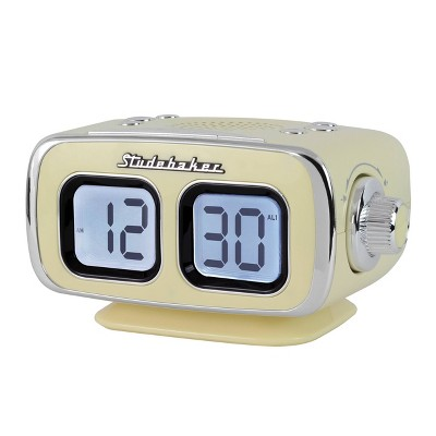 Studebaker Retro Digital Bluetooth AM/FM Clock Radio (SB3500CR) - Cream
