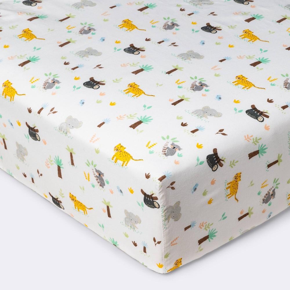 Fitted Crib Sheet Jungle Animals Cloud Island 8482