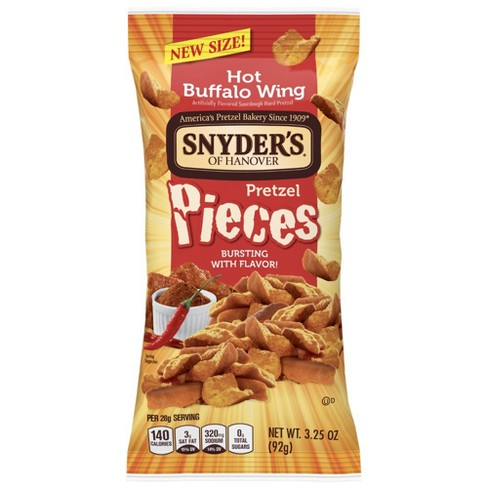 Snyder's of Hanover Hot Buffalo Wing Pretzel 3 pc - 3.25oz - image 1 of 1