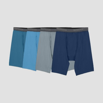 Fruit of the Loom Men's Comfort Stretch Microfiber Long Leg Boxer Briefs