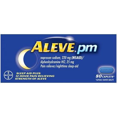 Aleve PM Sleep Aid Plus Pain Relief Caplets - Naproxen Sodium (NSAID) - 80ct
