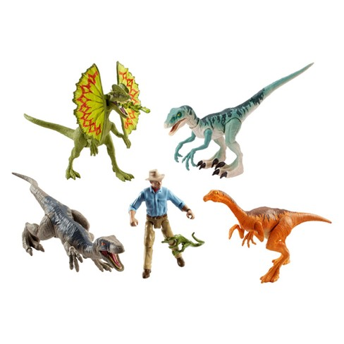 Jurassic World Legacy Collection Dr. Grant Figure and Dinosaurs 6pk - image 1 of 3