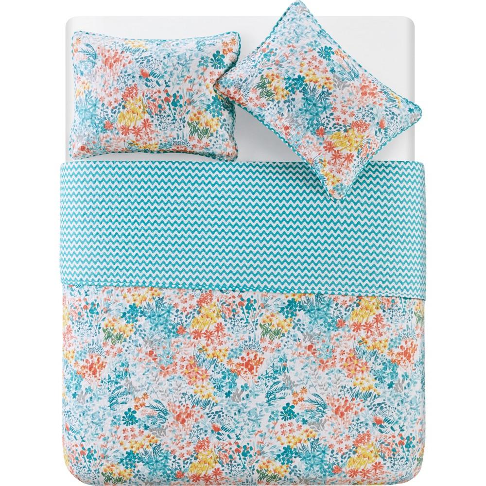 3pc King Kayla Quilt Set Blue - Vcny Home